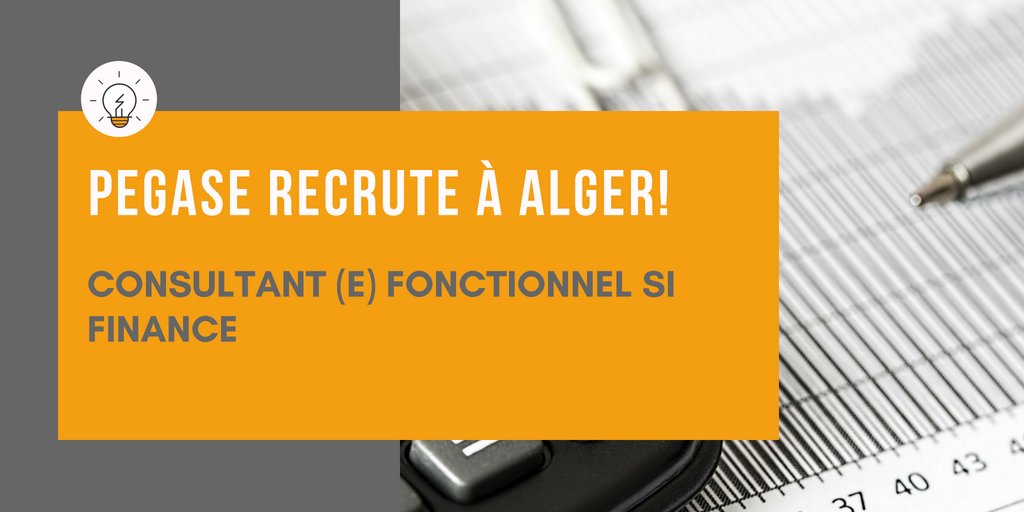 Pégase recrute: Un(e) consultant(e) fonctionnel SI finance  à Alger
